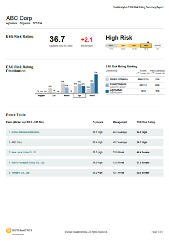 esg rr sample report cover